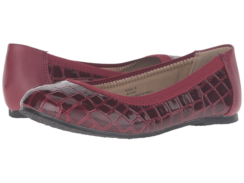 W6YZ - Bonnie (Little Kid/Big Kid) (Burgundy) Girls Shoes