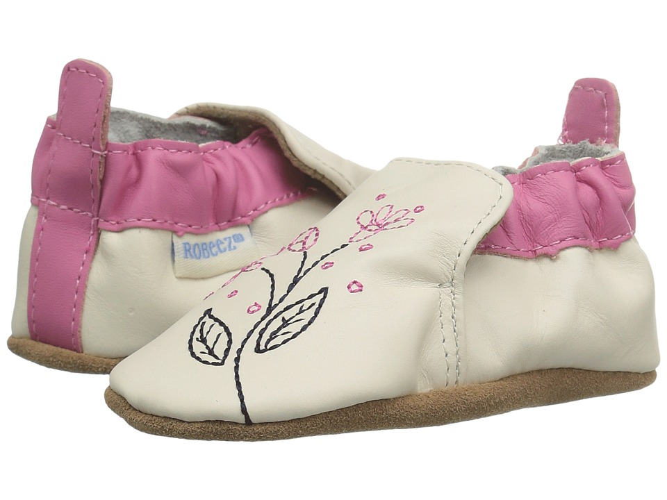 Robeez - Pink Sugar Soft Sole (Infant/Toddler) (Beige) Girls Shoes
