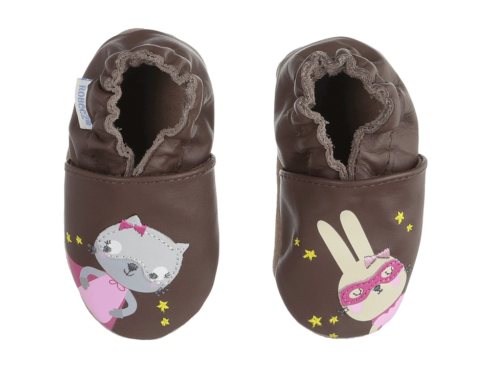 Robeez - Caped Cuties Soft Sole (Infant/Toddler) (Brown) Girls Shoes