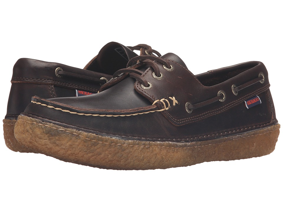 Sebago - Ronan Three Eye (Dark Brown Leather) Men's Shoes