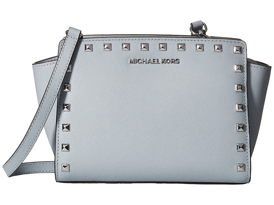 MICHAEL Michael Kors - Selma Stud Medium Messenger (Dusty Blue) Cross Body Handbags
