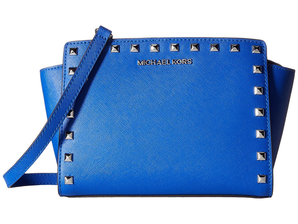 MICHAEL Michael Kors - Selma Stud Medium Messenger (Electric Blue) Cross Body Handbags
