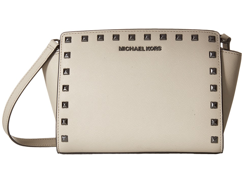 MICHAEL Michael Kors - Selma Stud Medium Messenger (Cement) Messenger Bags