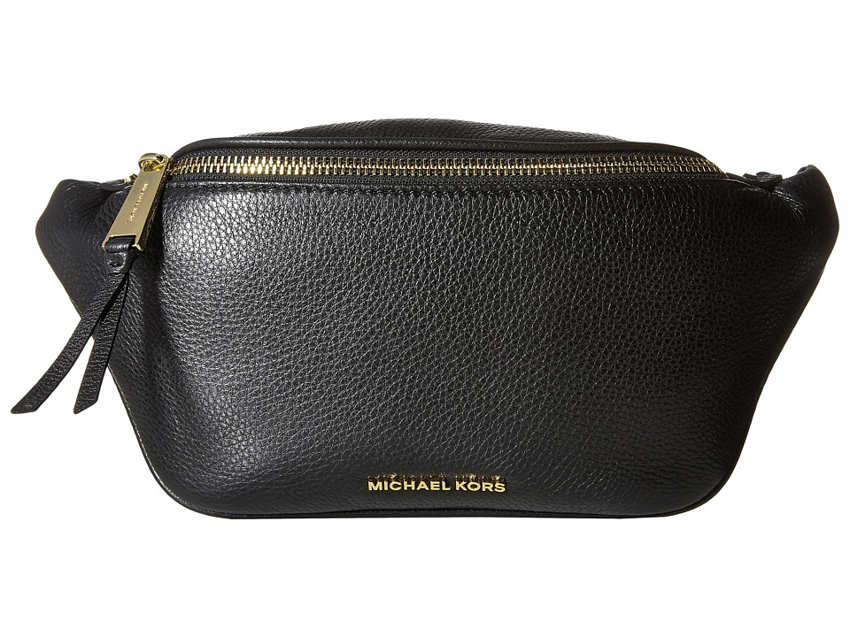 MICHAEL Michael Kors - Rhea Zip Belt Bag (Black) Bags