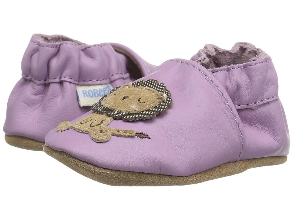 Robeez - Lori The Lion Soft Sole (Infant/Toddler) (Purple) Girls Shoes