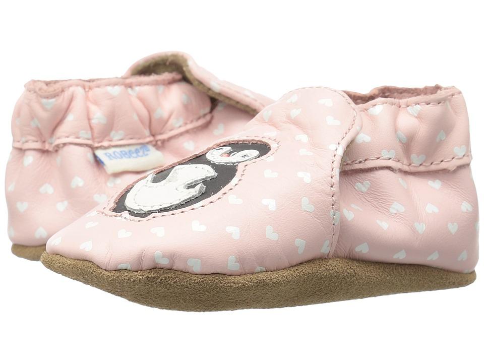 Robeez - Piper Penguin Soft Sole (Infant/Toddler) (Light Pink) Girls Shoes