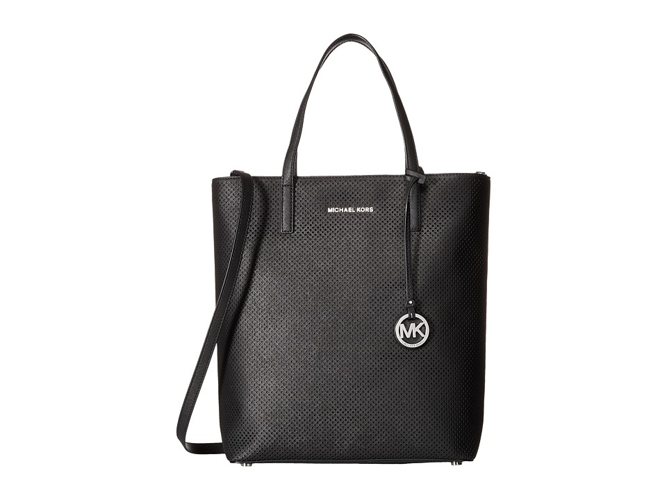 MICHAEL Michael Kors - Hayley Large North/South Top Zip Tote (Black) Tote Handbags
