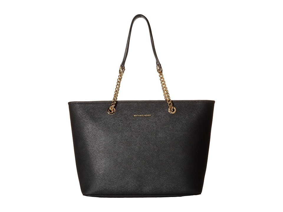MICHAEL Michael Kors - Jet Set Travel Chain Top Zip Mult Funt Tote (Black) Tote Handbags