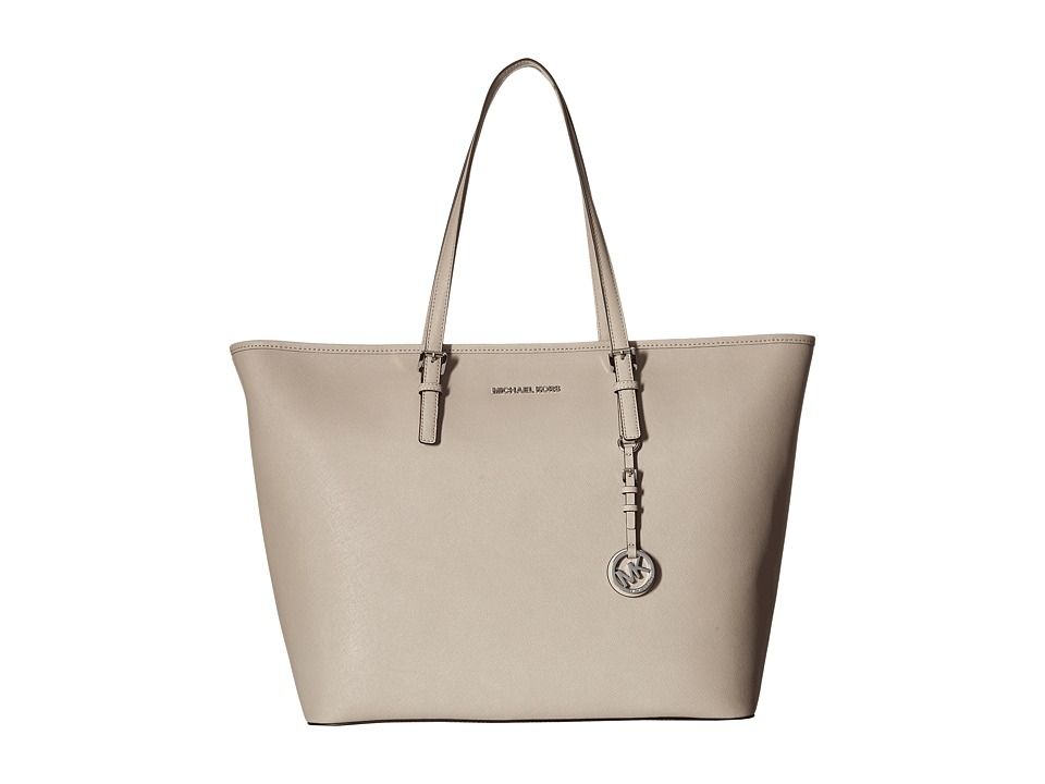 MICHAEL Michael Kors - Jet Set Travel Extra Large Top Zip Multifunction Tote (Cement) Tote Handbags