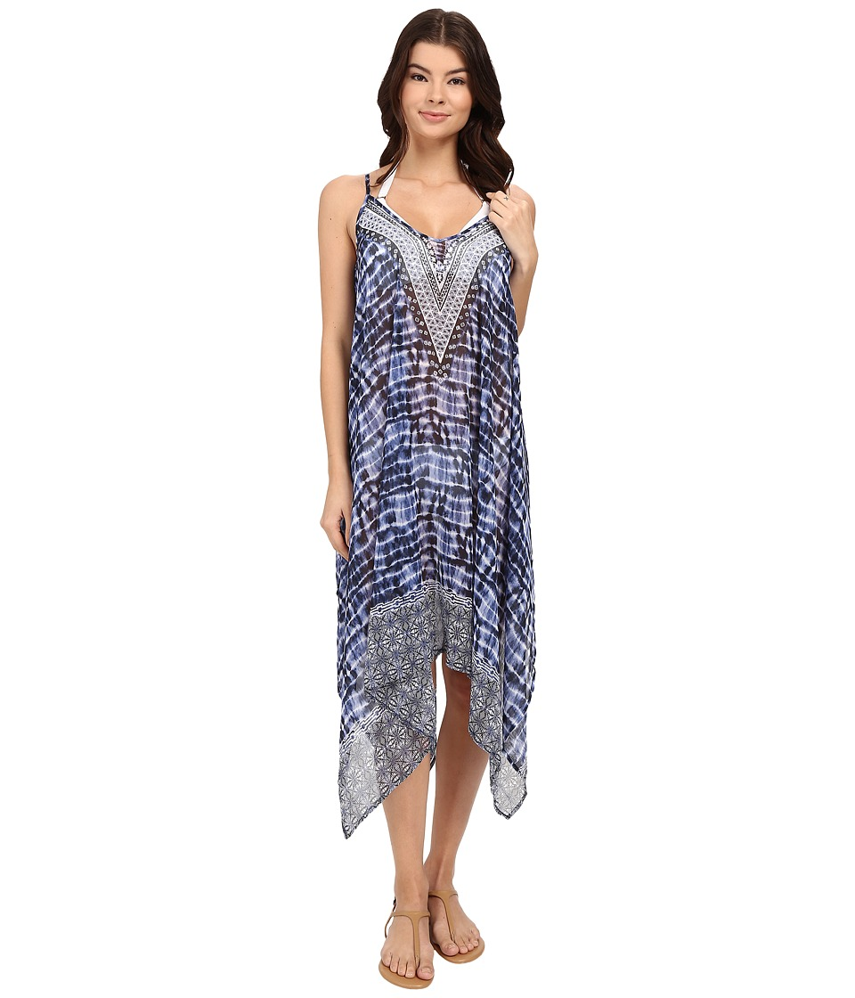 Bleu Rod Beattie - I've Got You Babe Dress Cover-Up (Indigo) Women's Swimwear