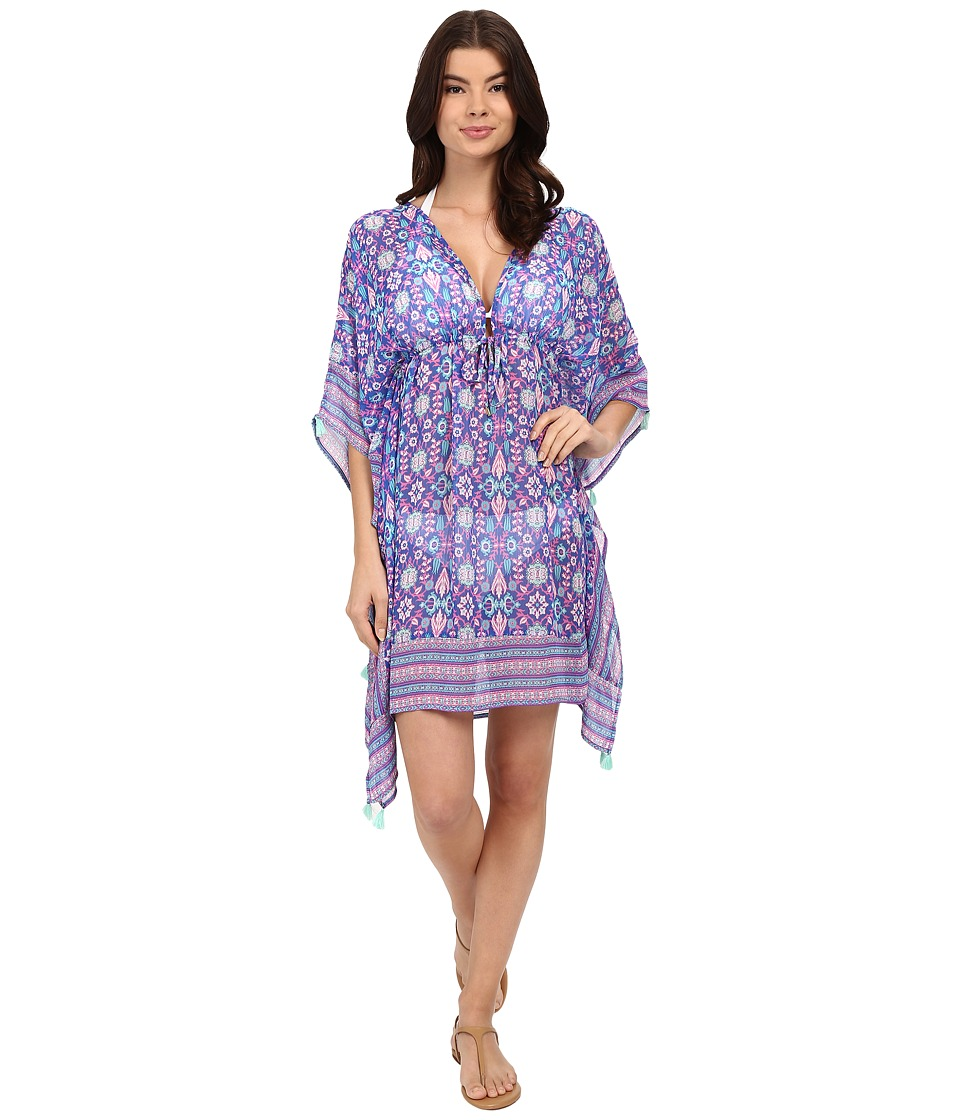 Bleu Rod Beattie - California Dreamin Caftan Cover-Up (Mint Multi) Women's Swimwear