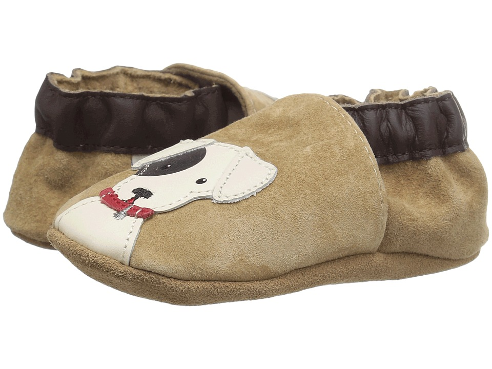 Robeez - Doggy Dale Soft Sole (Infant/Toddler) (Beige) Boys Shoes