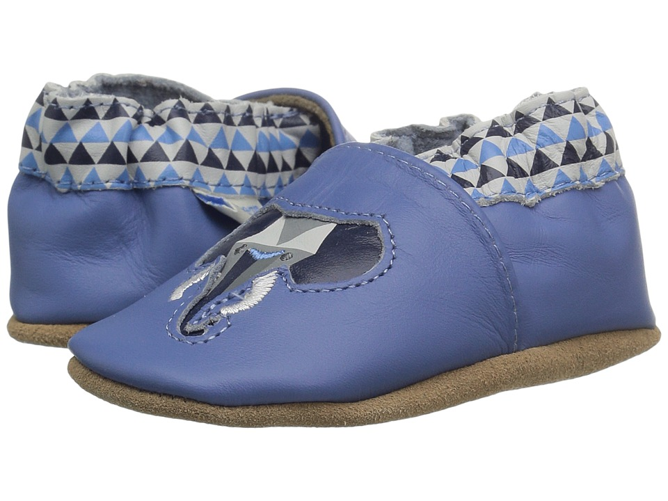 Robeez - Elephant Eddie Soft Sole (Infant/Toddler) (Blue) Boys Shoes