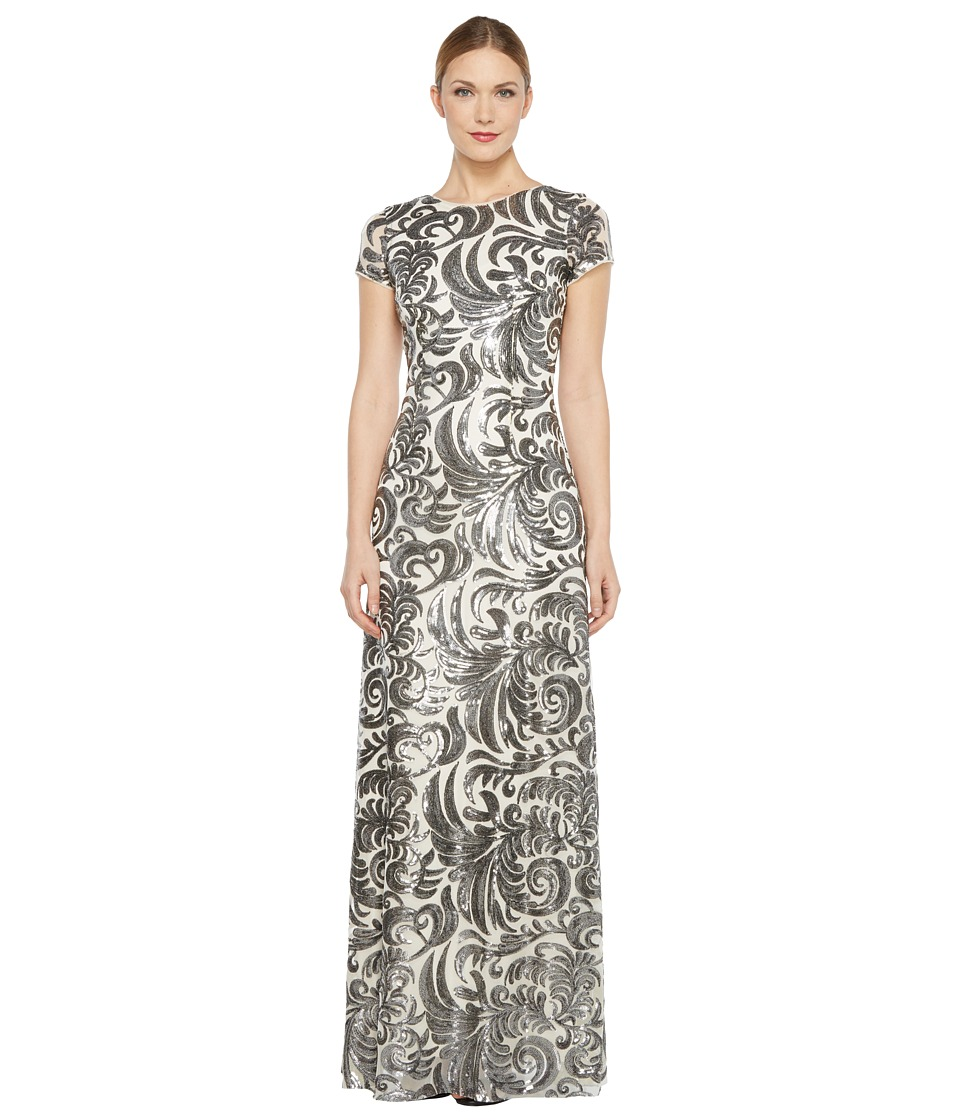 Donna Morgan - Simone - Beaded Cap Sleeve Dress (Silver) Women's Dress