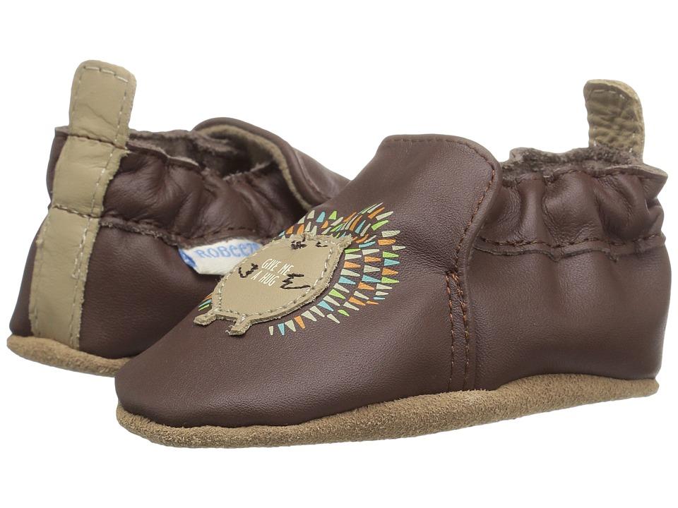 Robeez - Hedgehog Hug Soft Sole (Infant/Toddler) (Brown) Boys Shoes