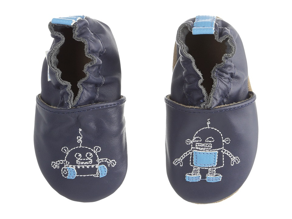 Robeez - Robotics Soft Sole (Infant/Toddler/Little Kid) (Navy) Boys Shoes