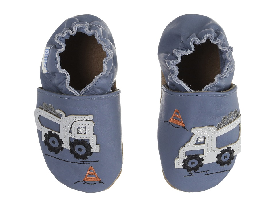 Robeez - Little Dump Truck Soft Sole (Infant/Toddler) (Blue) Boys Shoes