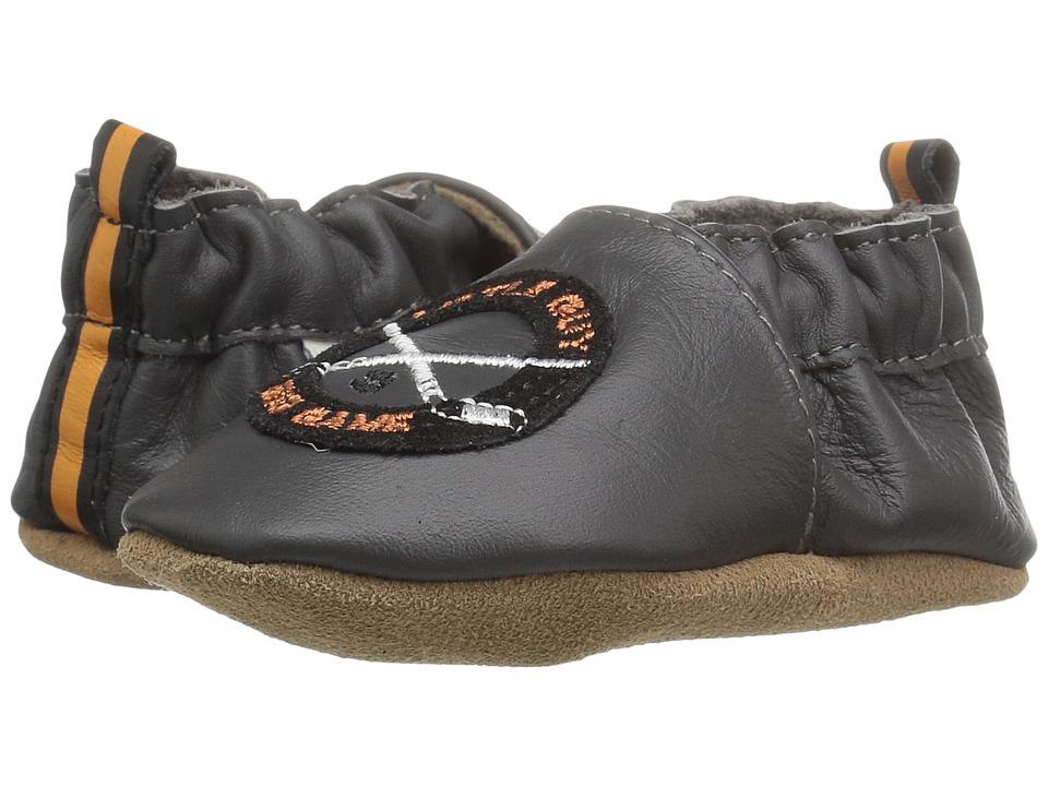 Robeez - Hockey Hustle Soft Sole (Infant/Toddler) (Grey) Boys Shoes