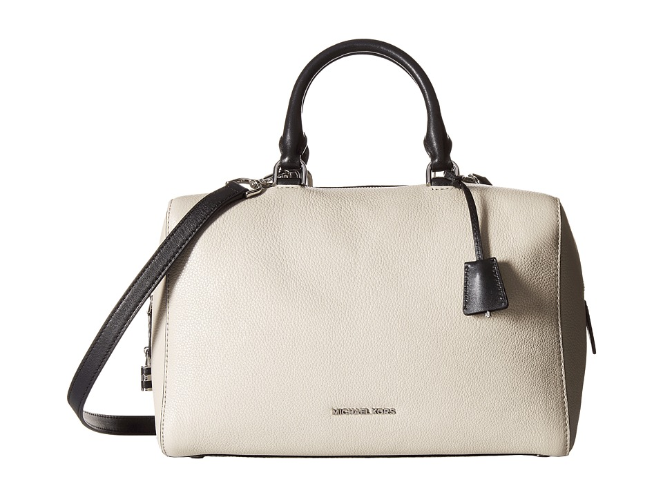 MICHAEL Michael Kors - Kirby Large Satchel (Cement/Black) Satchel Handbags