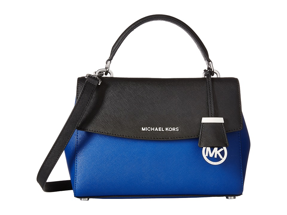MICHAEL Michael Kors - Ava Small Top-Handle Satchel (Electric Blue/Black) Satchel Handbags