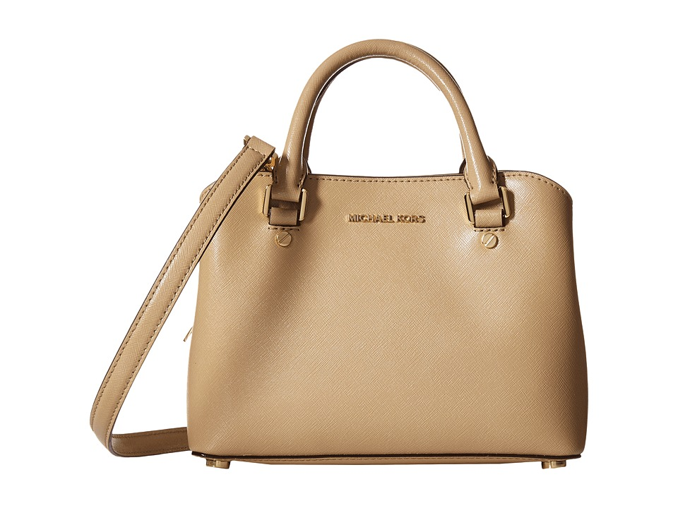 MICHAEL Michael Kors - Savannah Small Satchel (Bisque) Satchel Handbags