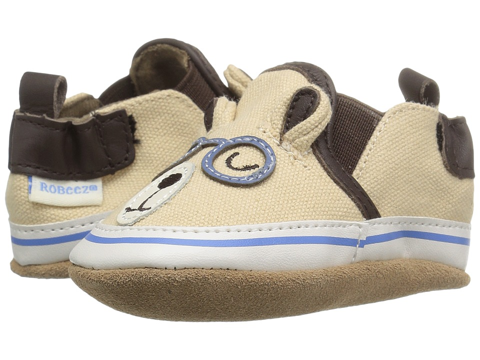 Robeez - Brainy Bear Soft Sole (Infant/Toddler) (Beige) Boys Shoes