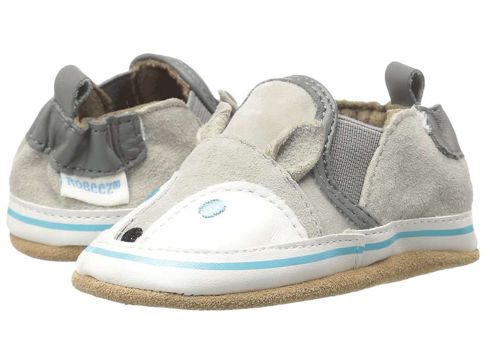 Robeez - Husky Howard Soft Sole (Infant/Toddler) (Grey) Boys Shoes