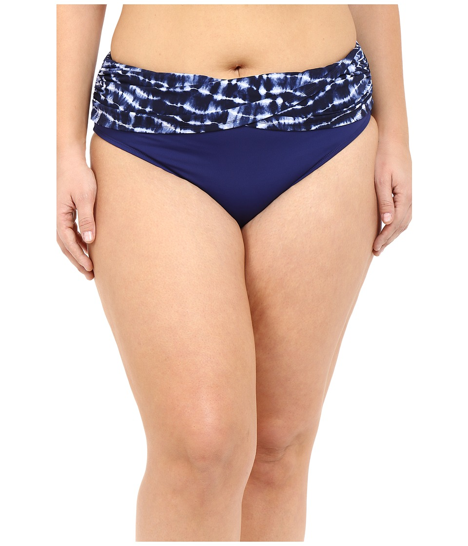 Bleu Rod Beattie - Plus Size I've Got You Babe Sarong Hipster (Indigo) Women's Swimwear