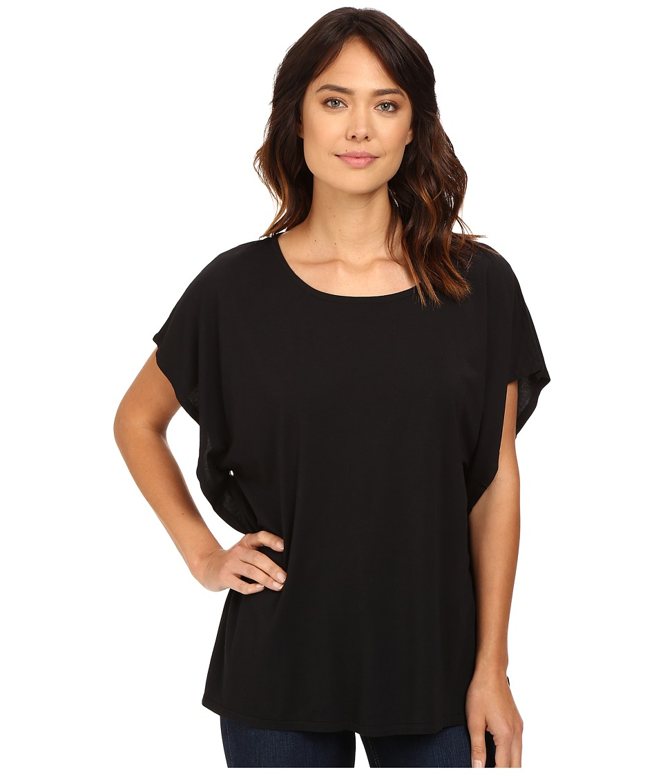 Dylan by True Grit - Luxe Pullover Tee (Black) Women's T Shirt