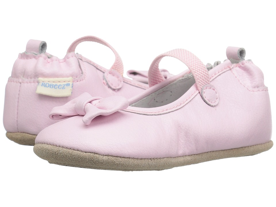 Robeez - Penny Mini Shoez (Infant/Toddler) (Light Pink) Girls Shoes