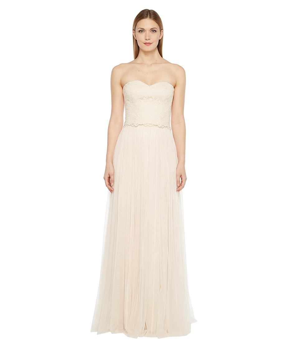 Donna Morgan - Adeline Strapless Top Skirt (Fawn) Women's Dress