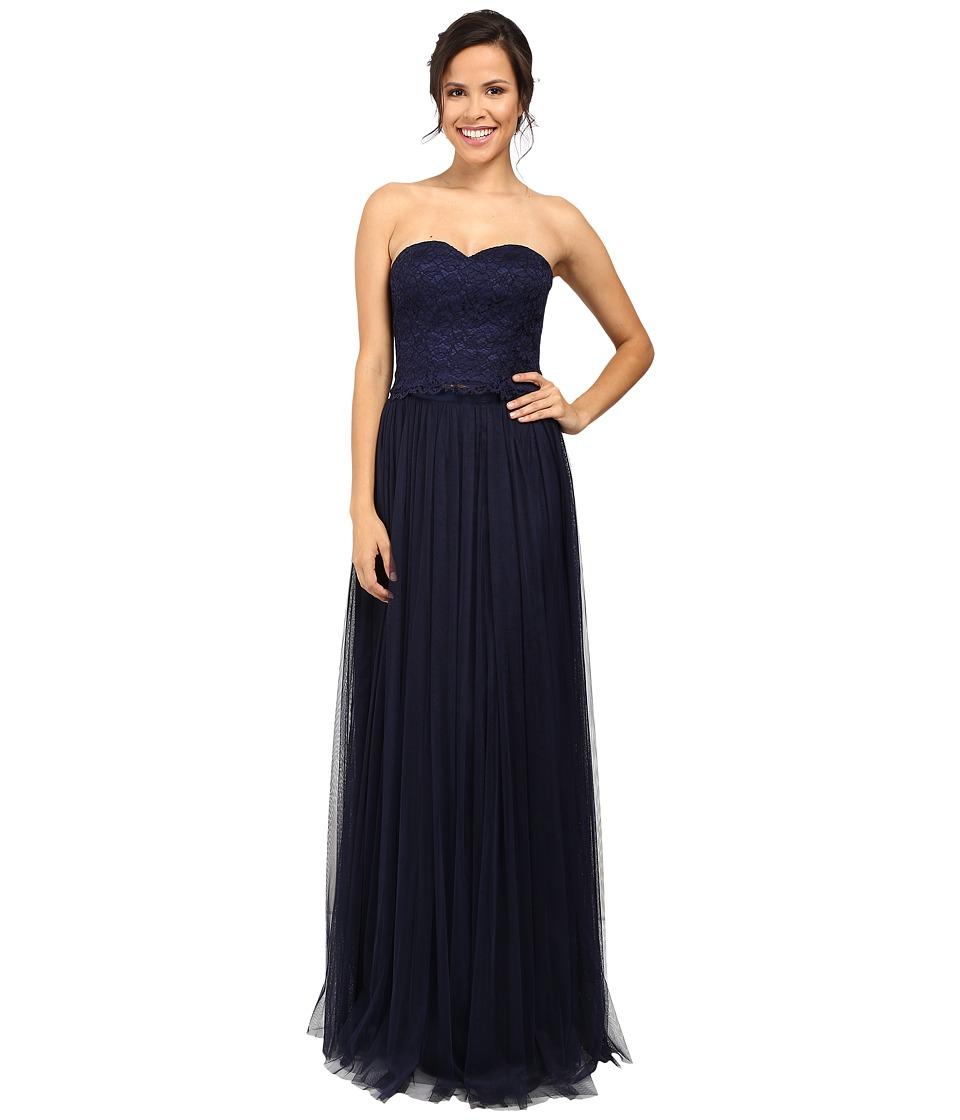 Donna Morgan - Adeline Strapless Top Skirt (Indigo) Women's Dress
