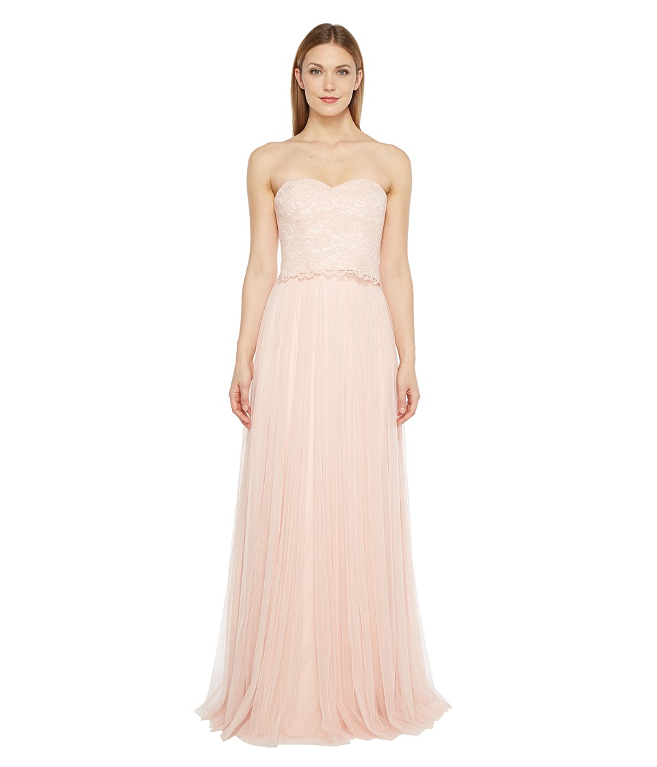 Donna Morgan Adeline Strapless Top Skirt Pearl Pink Dress