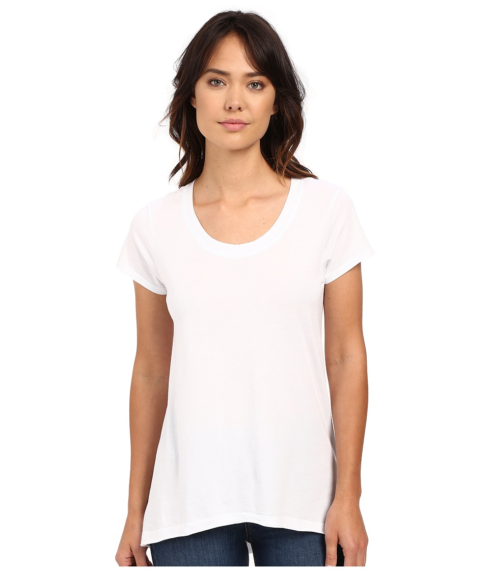 Dylan by True Grit - Short Sleeve High-Low Luxe Tee (White) Women's T Shirt