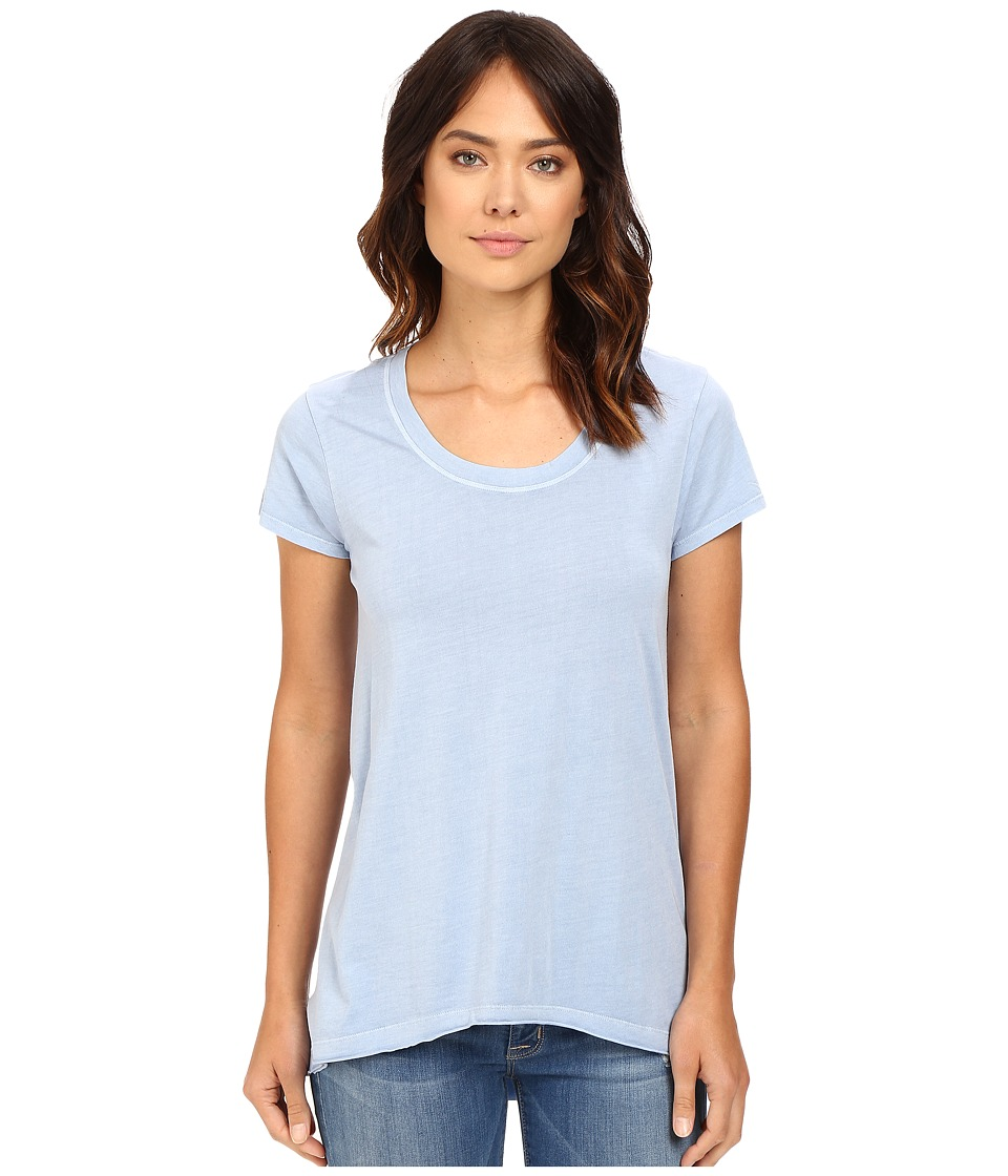 Dylan by True Grit - Short Sleeve High-Low Luxe Tee (Pool Blue) Women's T Shirt