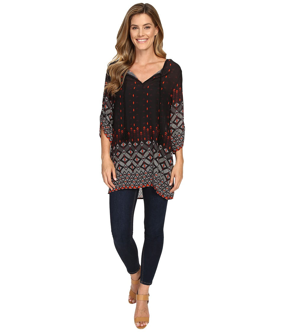 Dylan by True Grit - Gypsy Tunic (Black) Women's Blouse