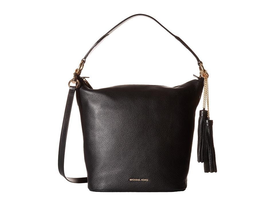MICHAEL Michael Kors - Elana Large Convertible Shoulder (Black) Shoulder Handbags