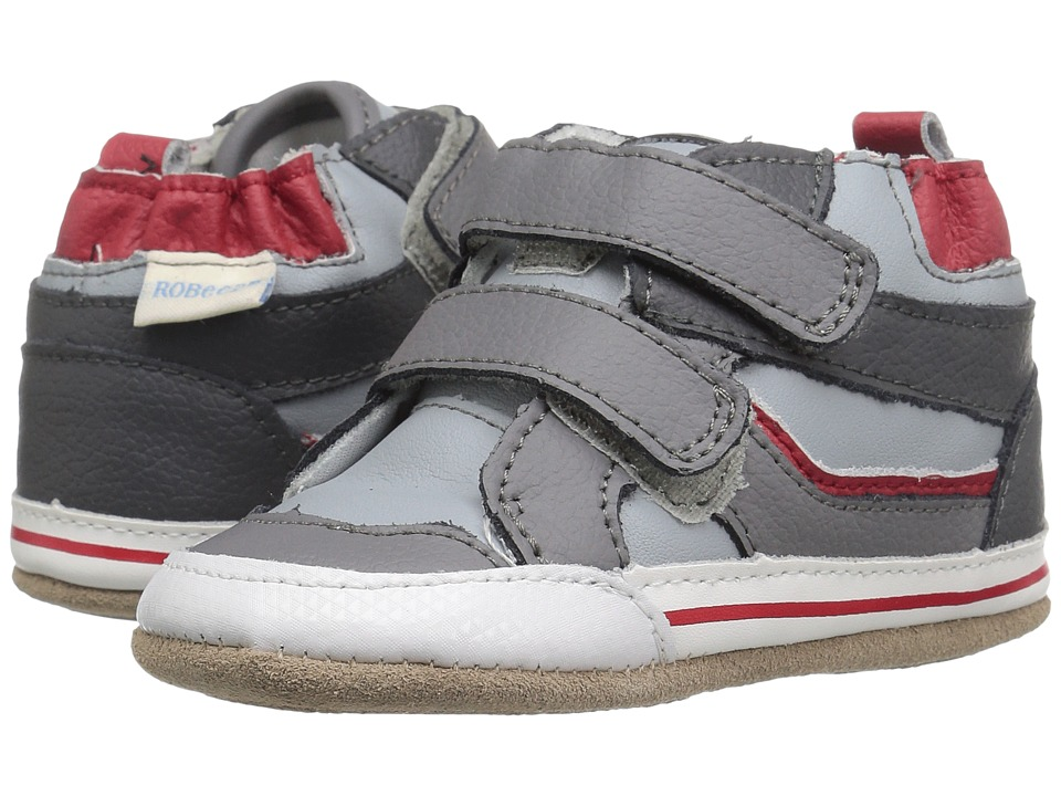 Robeez - Greg High Top Mini Shoez (Infant/Toddler) (Grey) Boys Shoes