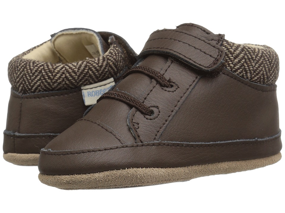 Robeez - Woven Willy Mini Shoez (Infant/Toddler) (Brown) Boys Shoes