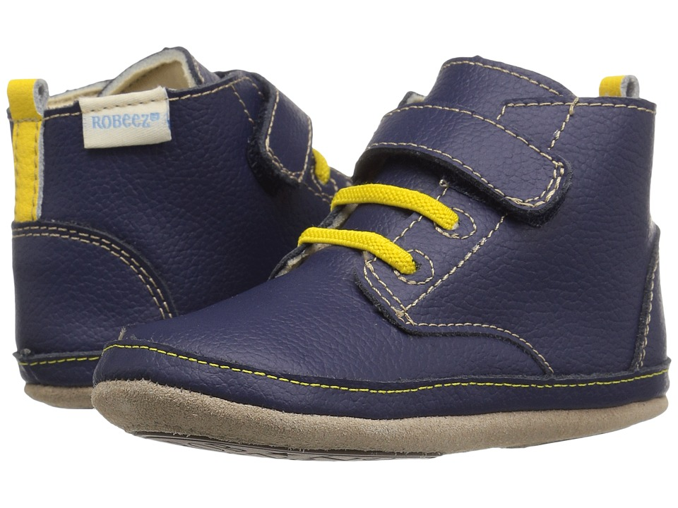 Robeez - Nick Boot Mini Shoez (Infant/Toddler) (Navy) Boys Shoes