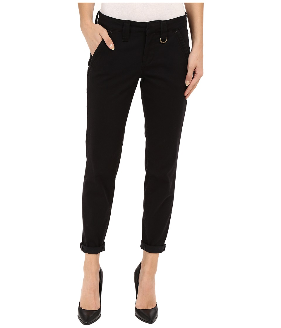 Jag Jeans - Dana Tapered Boyfriend Chino Pant in Bay Twill (Black) Women's Casual Pants plus size,  plus size fashion plus size appare