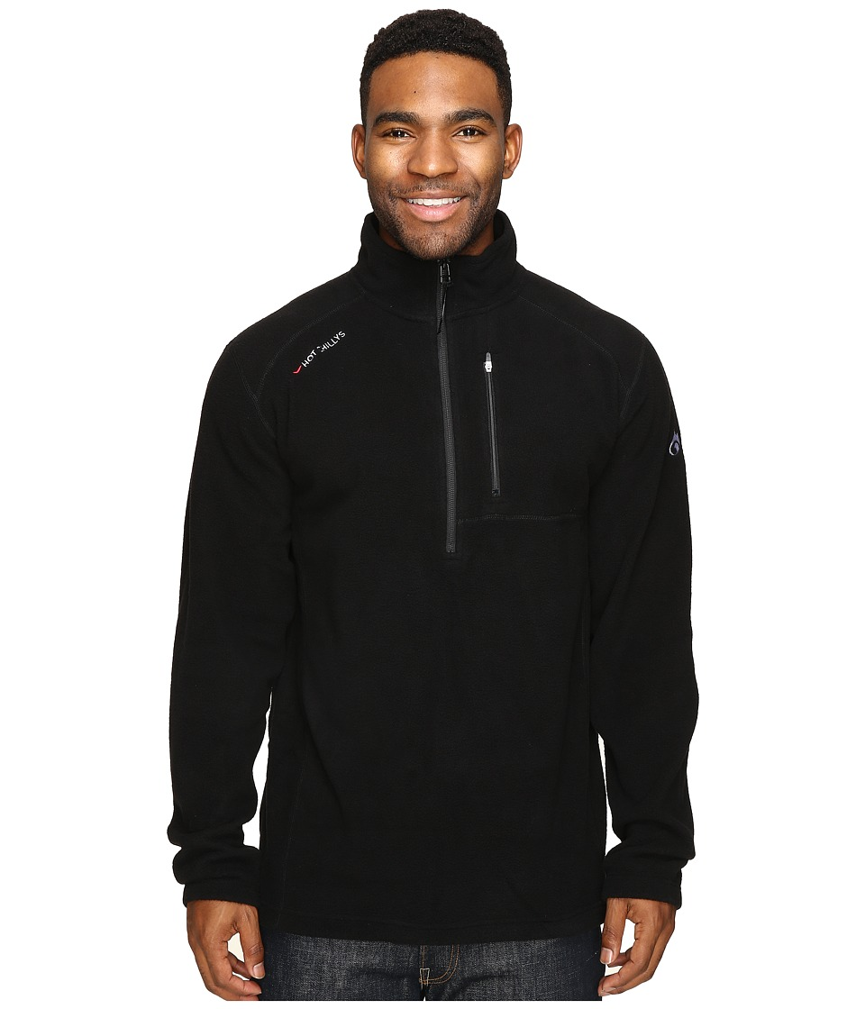 Hot Chillys - Baja Pocket Zip-T (Black) Men's Clothing