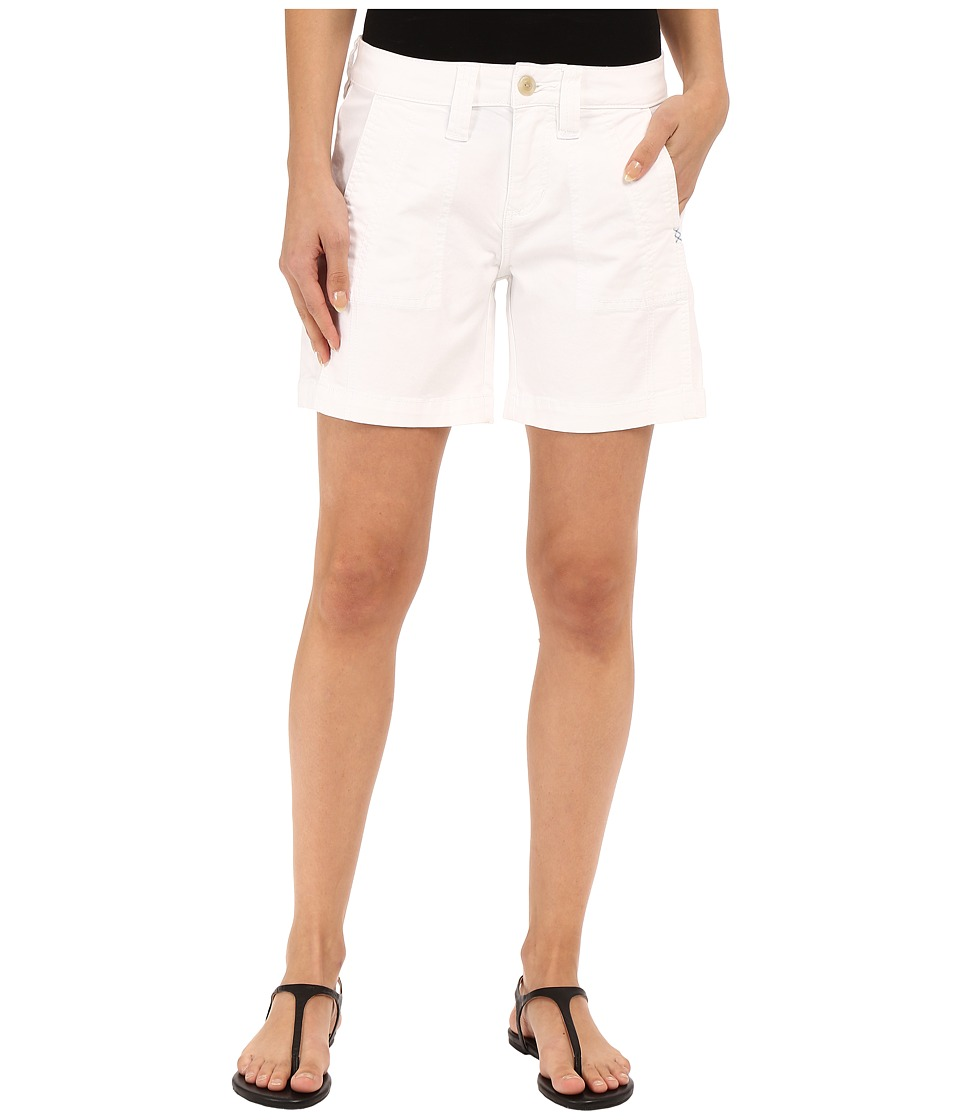 Jag Jeans - Somerset Relaxed Fit Shorts in Bay Twill (White) Women's Shorts