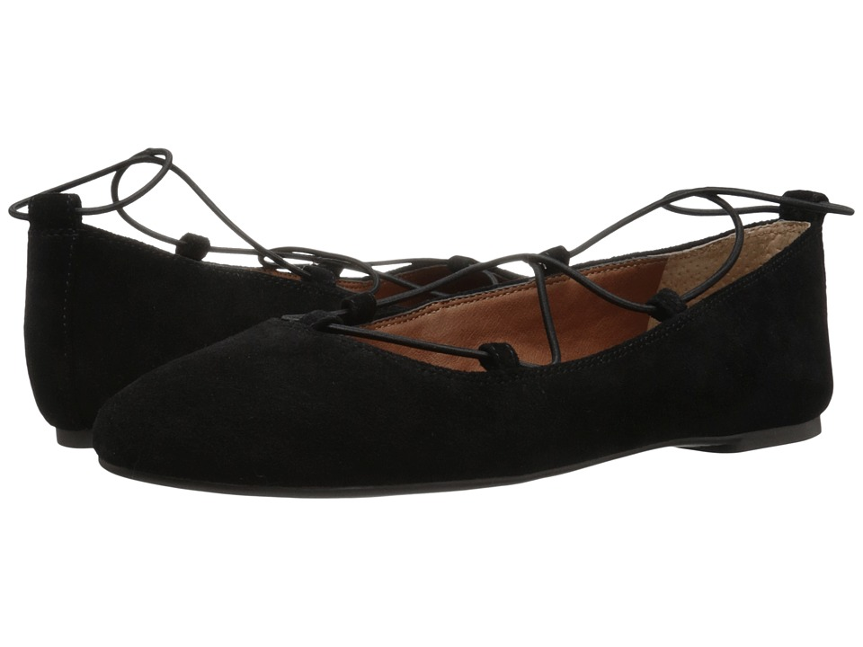 Lucky Brand Aviee (Black Oil Suede) Women