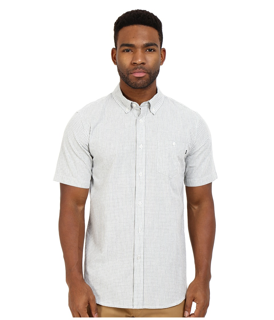 Obey - Keene Short Sleeve Woven (Grey Multi) Men's Clothing