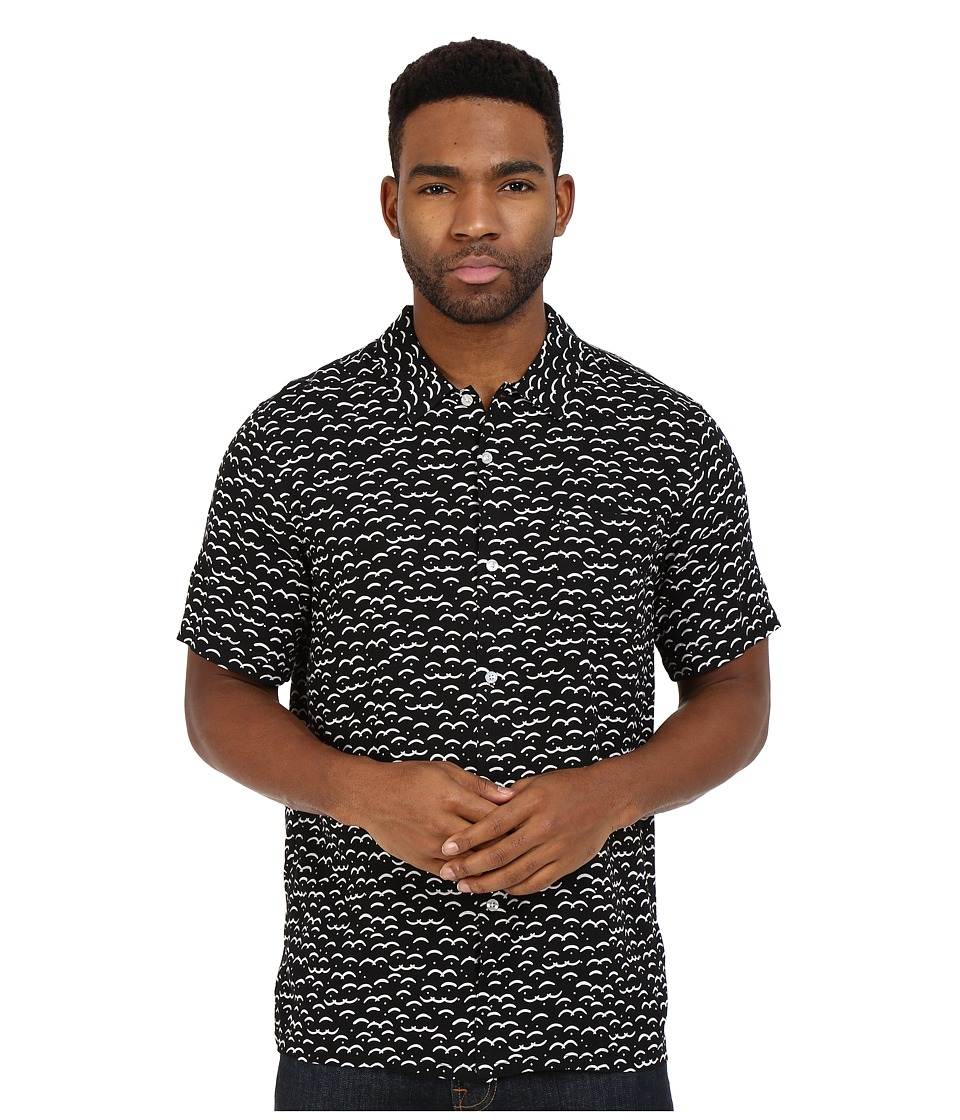 Obey - Cliffside Short Sleeve Woven (Black Multi) Men's Clothing