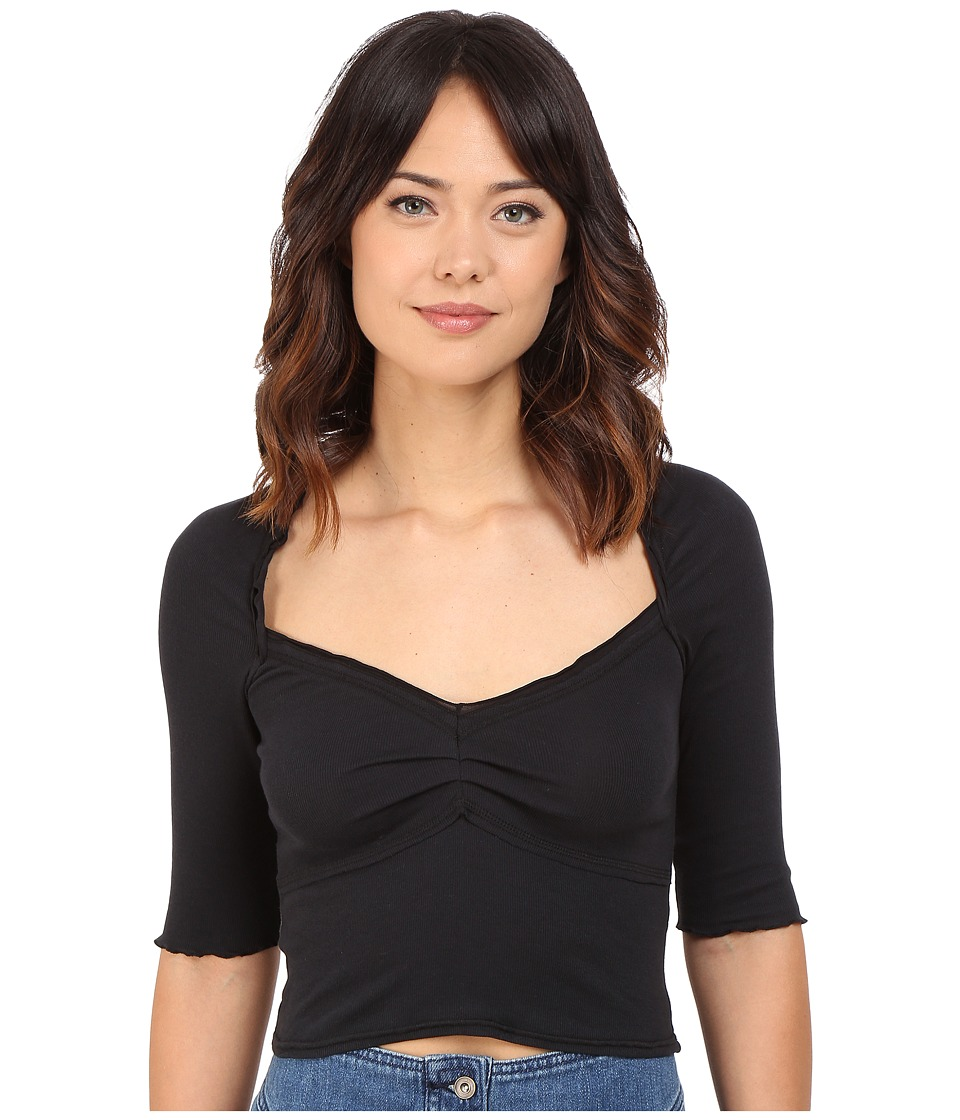 Free People - Sweet Heart Top (Black) Women's Clothing