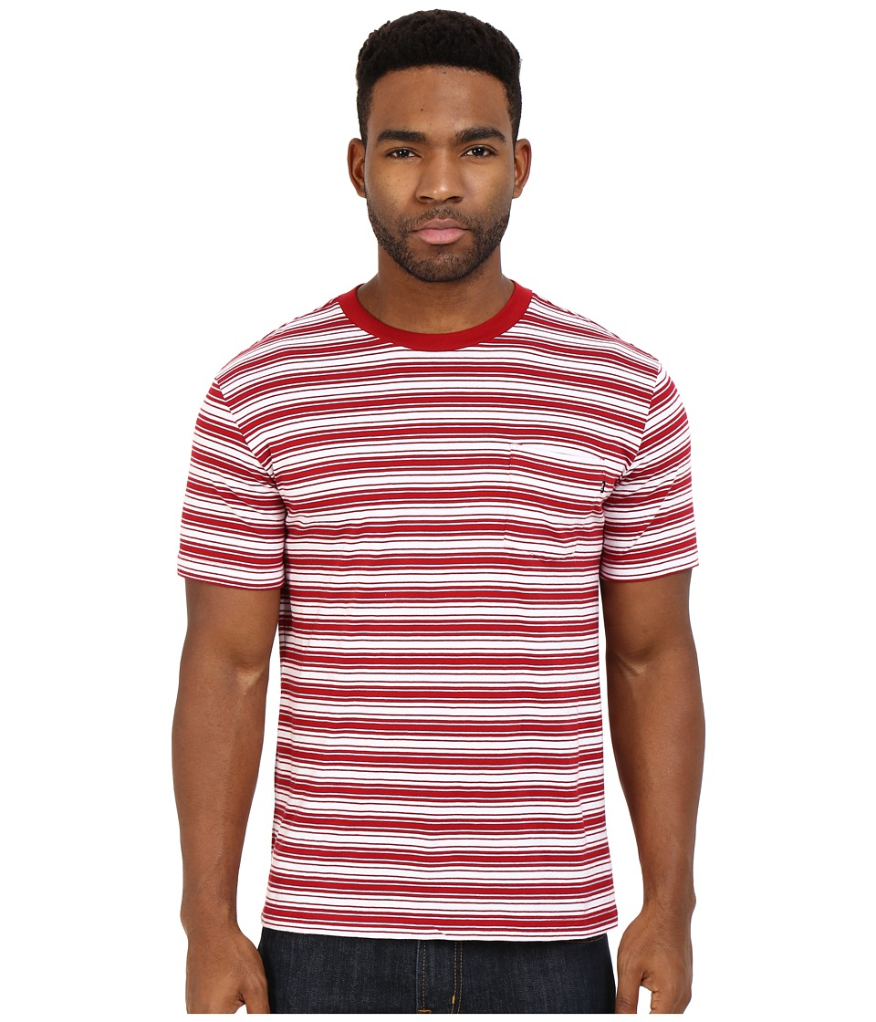 Obey Chico Pocket Tee (Red Multi) Men