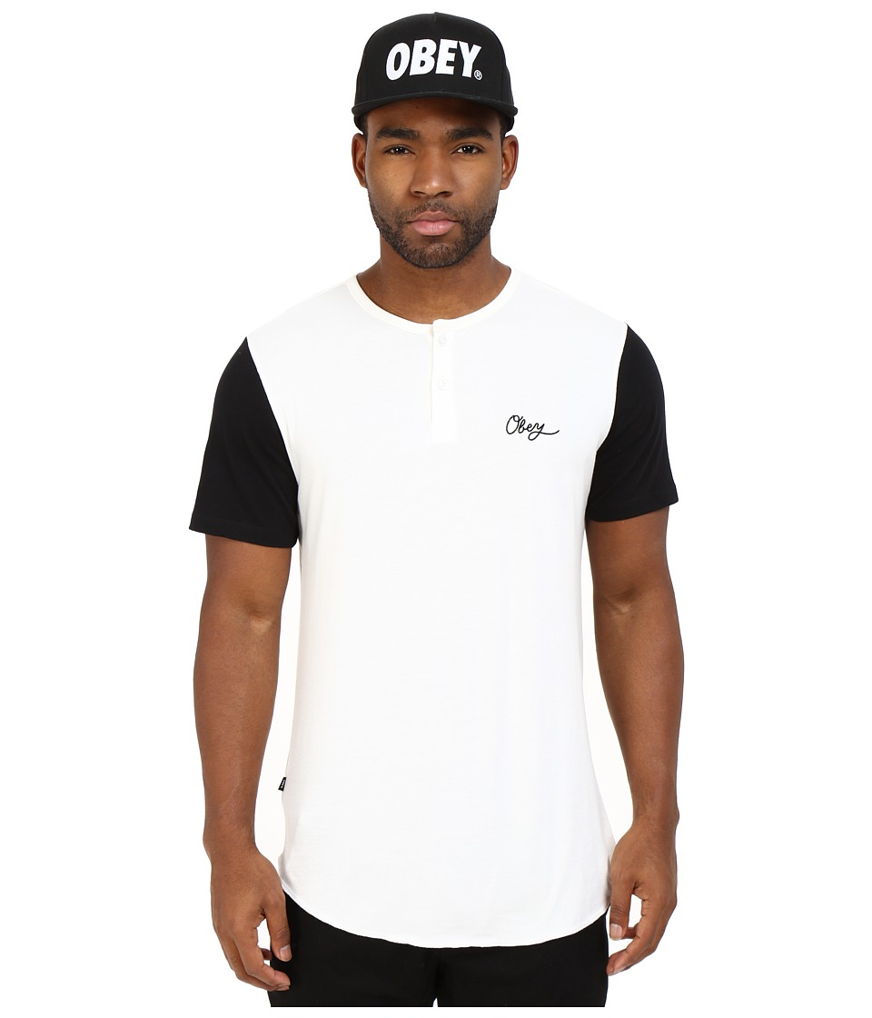 Obey - Broadway Short Sleeve Henley (Black Multi) Men