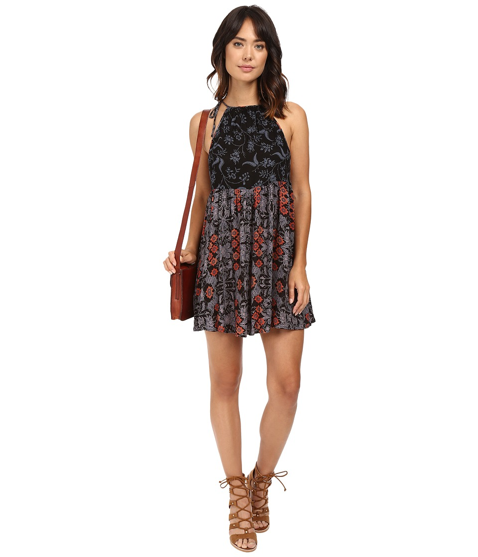 Free People - Wildest Dreams Slip (Black Combo) Women's Dress